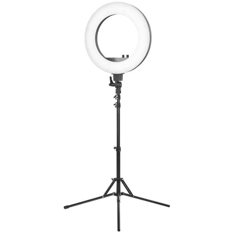 Žiedinė LED lempa su trikoju stovu